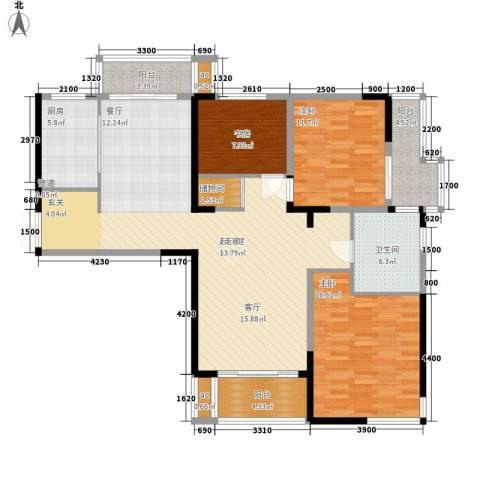 一品东庭3室0厅1卫1厨155.00㎡户型图