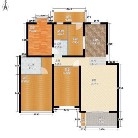 省高级人民法院宿舍房3室0厅2卫1厨129.00㎡户型图
