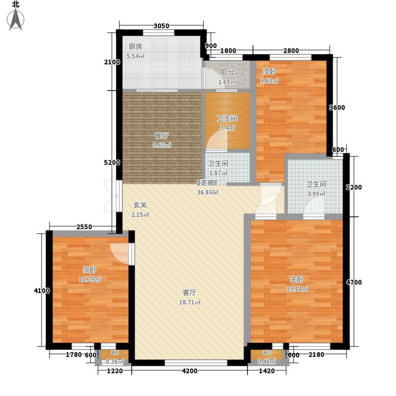 远洋戛纳小镇123.00㎡三期小高C1123jpg户型3室2厅