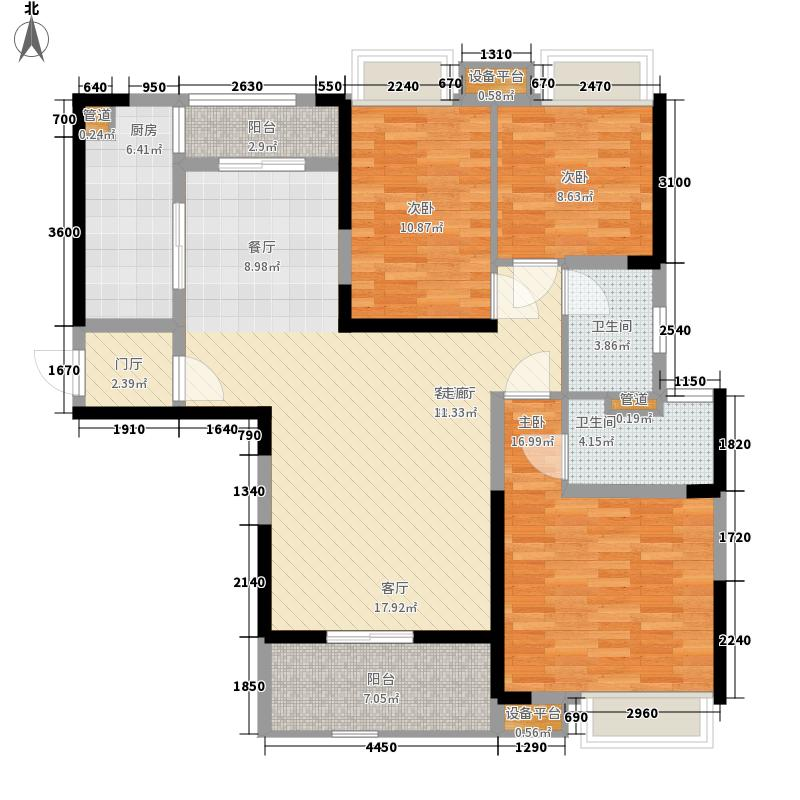 锦绣天伦花园119.00㎡三街11号01单位户型3室2厅
