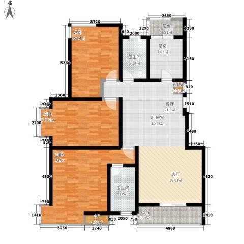 富饶世家3室0厅2卫1厨142.00㎡户型图