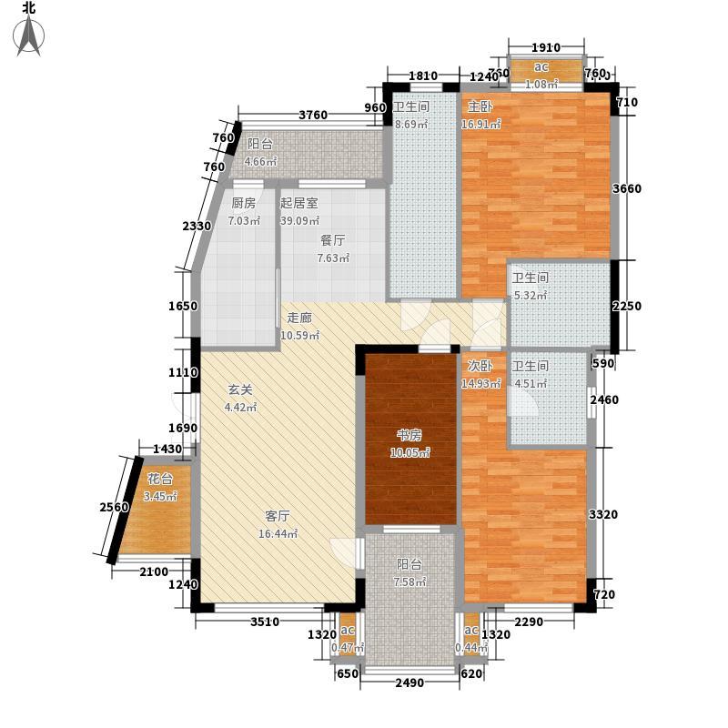 大运家园140.66㎡5栋A座3面积14066m户型