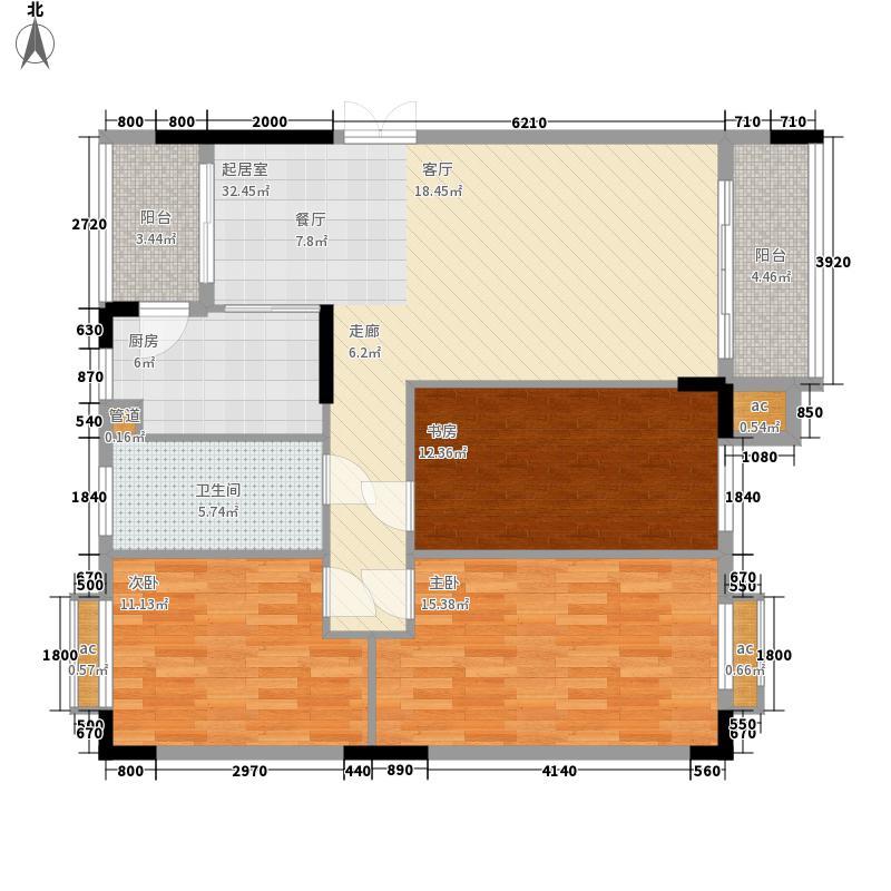 大运家园105.69㎡6栋A座1面积10569m户型