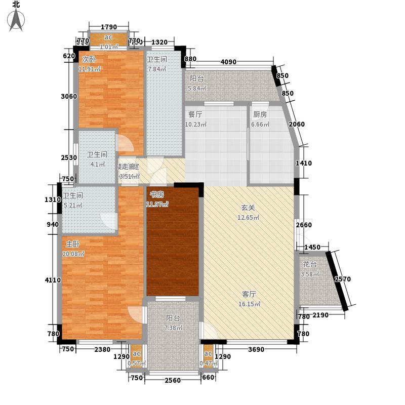 大运家园145.37㎡6栋D座3面积14537m户型