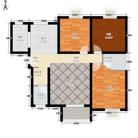 易合坊3室1厅2卫1厨134.00㎡户型图