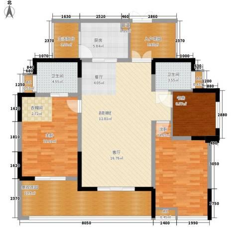 万友康苑3室0厅2卫1厨157.00㎡户型图