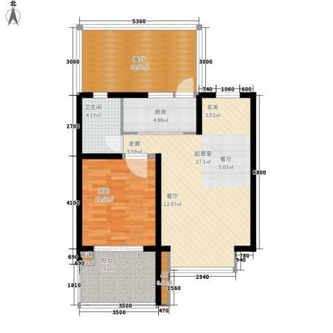 天江格调花园1室0厅1卫1厨74.00㎡户型图