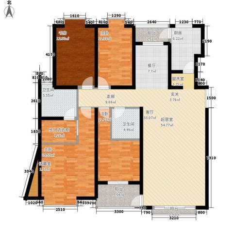天江格调花园4室0厅2卫1厨183.00㎡户型图