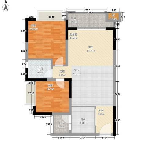 恒春凤凰城2室0厅1卫1厨102.00㎡户型图