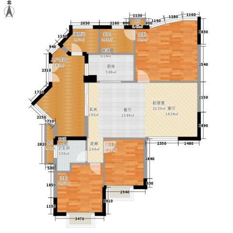 塞纳森晴3室0厅1卫1厨118.00㎡户型图