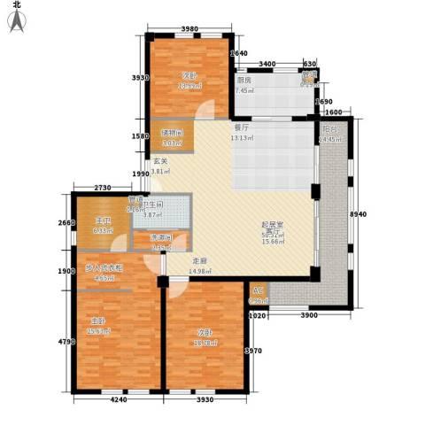 君悦国际花园3室0厅1卫1厨162.00㎡户型图