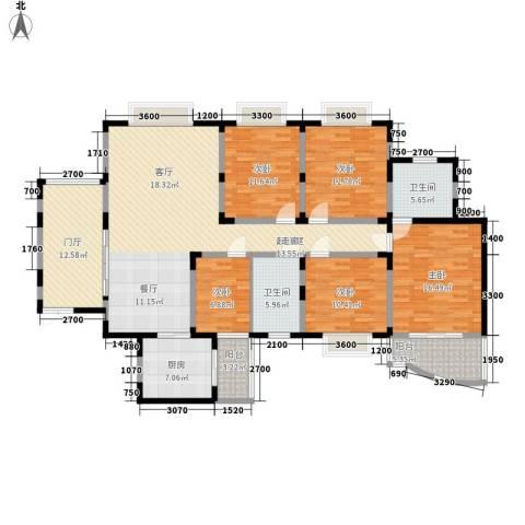 旭景名园5室0厅2卫1厨200.00㎡户型图
