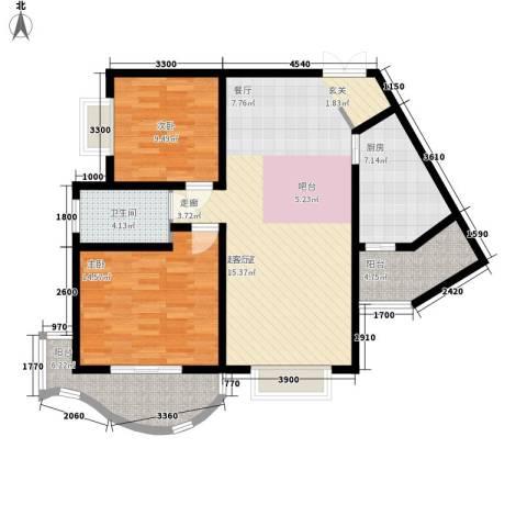 旭景名园2室0厅1卫1厨114.00㎡户型图