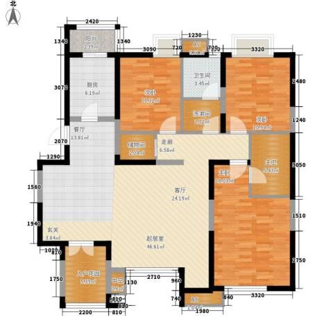 万科水晶城3室0厅1卫1厨139.00㎡户型图