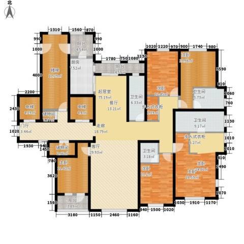 玉兰花园5室0厅4卫1厨262.00㎡户型图