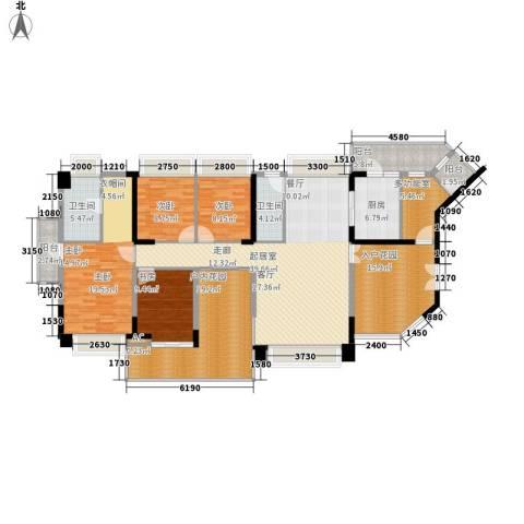 水云居4室0厅2卫1厨170.00㎡户型图