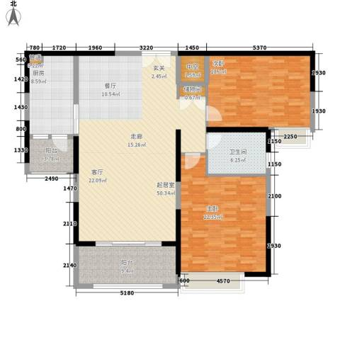南兵营小区2室0厅1卫1厨136.00㎡户型图