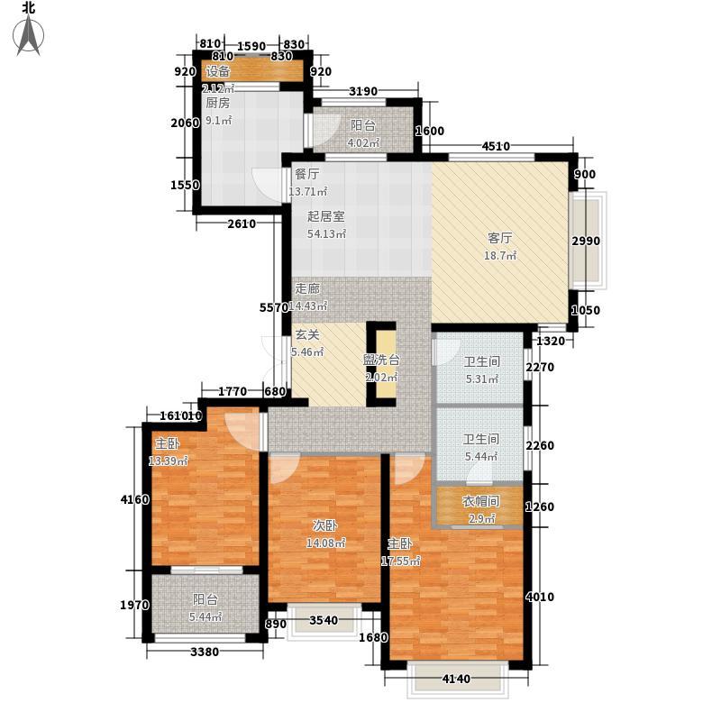 海信·依云小镇150.00㎡B4小高层维拉户型3室2厅