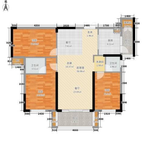 青园小区3室0厅2卫1厨130.00㎡户型图