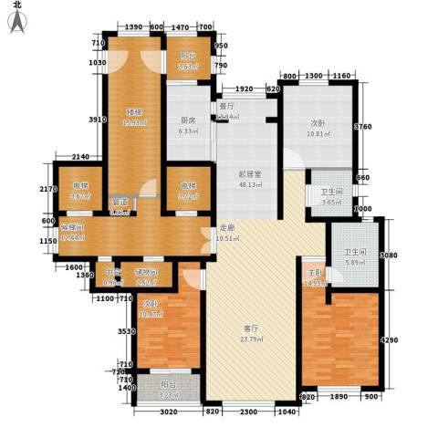 玉兰花园3室0厅2卫1厨171.00㎡户型图