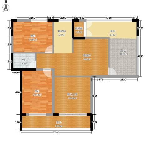 青园小区2室0厅1卫0厨218.00㎡户型图