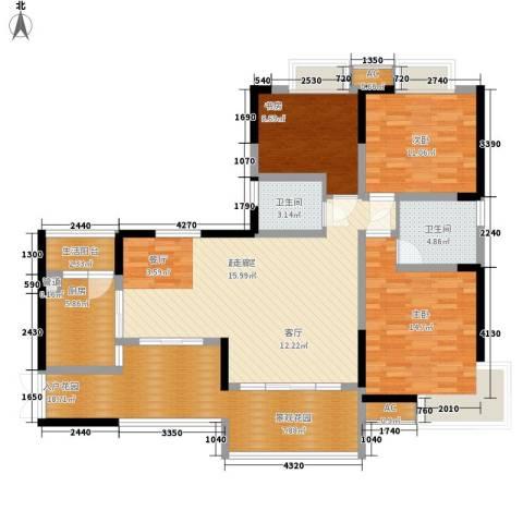 万友康苑3室0厅2卫1厨149.00㎡户型图