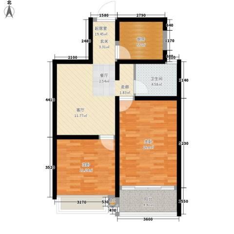 新华名郡2室0厅1卫1厨72.00㎡户型图