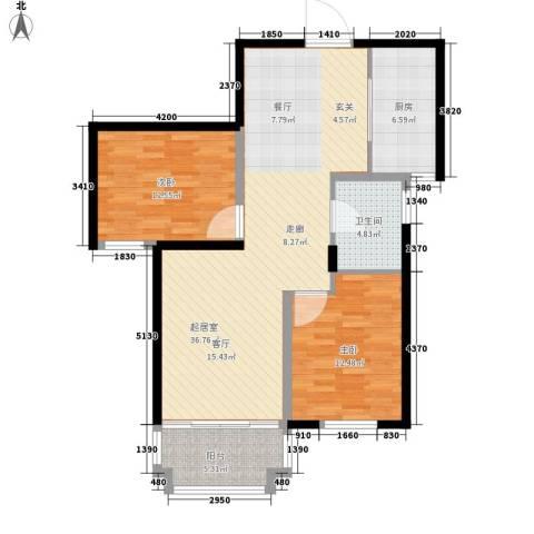 信泰金域仕家2室0厅1卫1厨111.00㎡户型图