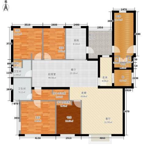 曲江春晓苑4室0厅2卫1厨160.00㎡户型图