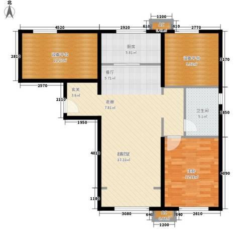 假日盈润园1室0厅1卫1厨88.00㎡户型图