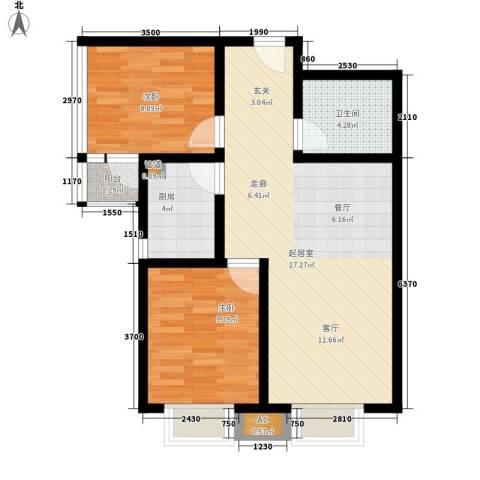 西市佳园2室0厅1卫1厨84.00㎡户型图