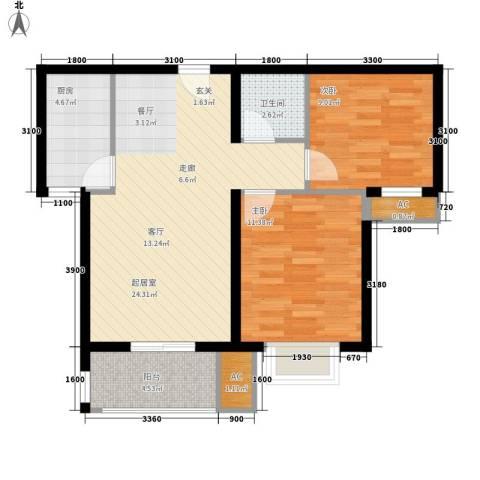 新华里188号2室0厅1卫1厨84.00㎡户型图