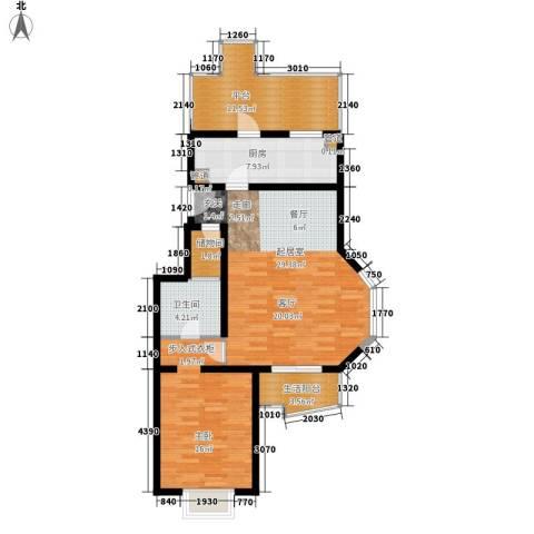 百旺家苑1室0厅1卫1厨85.00㎡户型图