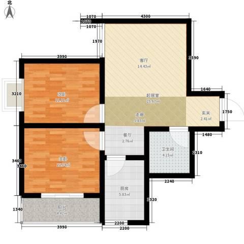 子午美居2室0厅1卫1厨73.00㎡户型图