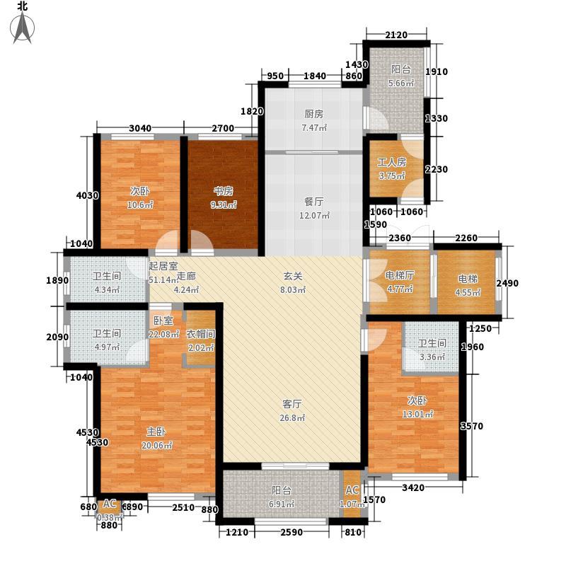 乡居假日香醍园186.65㎡G户型三层四室两厅三卫186.65平米户型4室2厅3卫