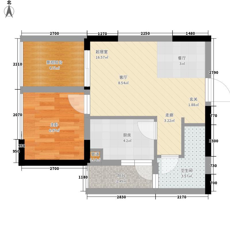 东原锦悦32.87㎡2号楼1、3、4、面积3287m户型