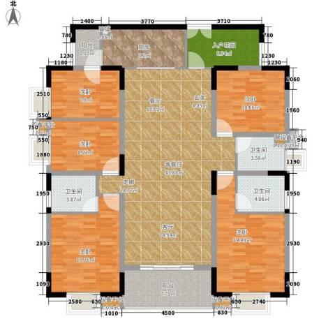 兴豪门5室1厅3卫1厨191.00㎡户型图