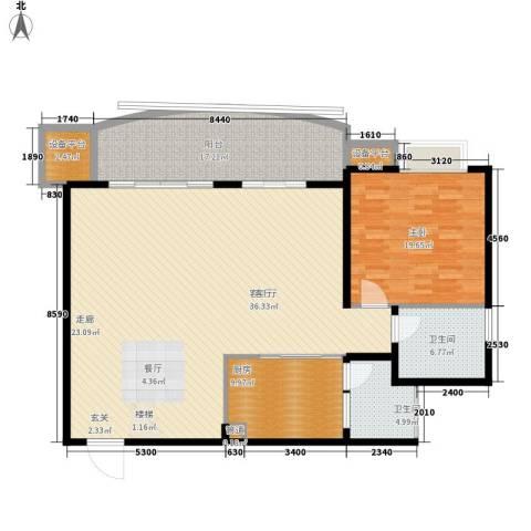 尚阳康城1室1厅2卫1厨143.00㎡户型图
