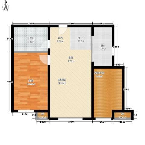 假日盈润园1室0厅1卫1厨65.00㎡户型图