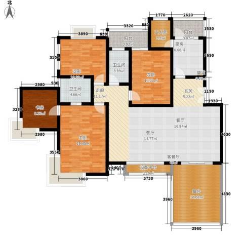 水木青华4室1厅2卫1厨144.72㎡户型图
