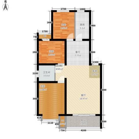 东华锦绣家园3室0厅1卫1厨110.00㎡户型图
