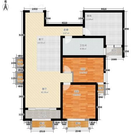 中润华侨城2室1厅1卫1厨147.00㎡户型图