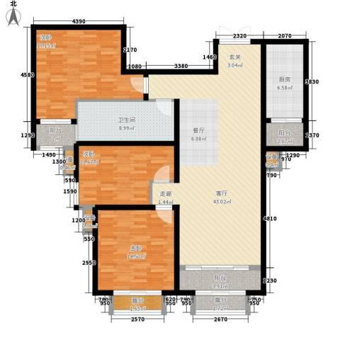 中润华侨城3室1厅1卫1厨165.00㎡户型图