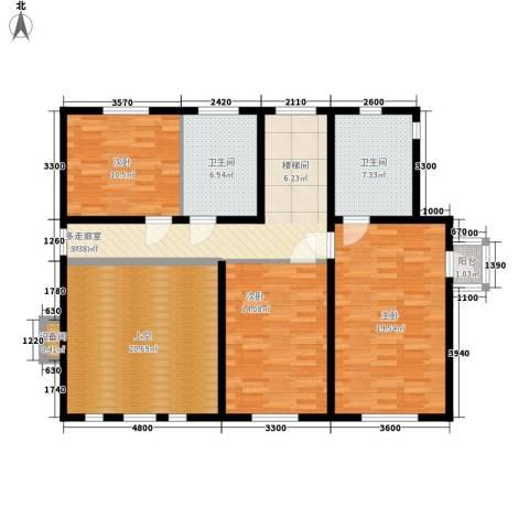 波尔多庄园3室0厅2卫0厨135.00㎡户型图
