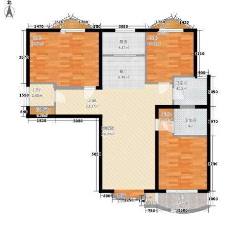 东方渔人码头3室0厅2卫1厨143.00㎡户型图