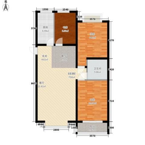 金水豪庭3室0厅1卫1厨105.00㎡户型图