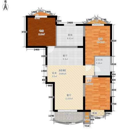东方渔人码头3室0厅1卫1厨126.00㎡户型图