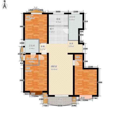 东方渔人码头3室0厅2卫1厨151.00㎡户型图