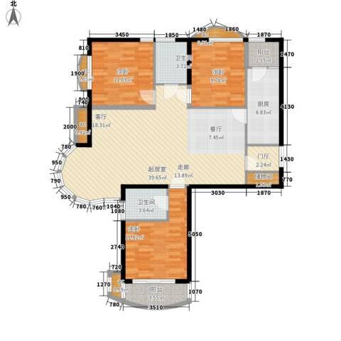 东方渔人码头3室0厅2卫1厨140.00㎡户型图