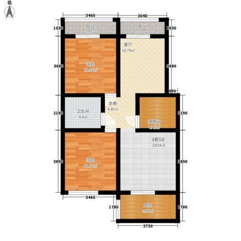 市土地局家属院2室0厅1卫1厨81.00㎡户型图
